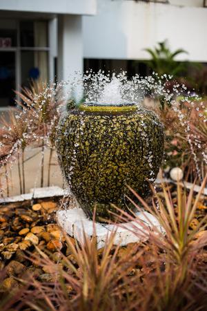 garden fountain: Home and Garden Fountain Stock Photo