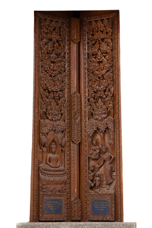 wood carvings: Ancient wood carvings in Thailand