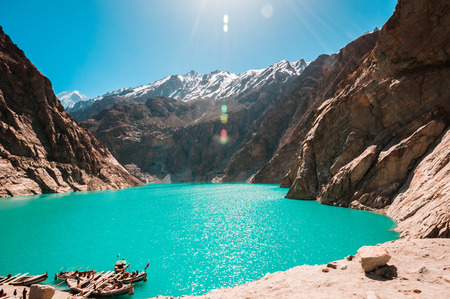Attabad Lake in Northern Pakistan