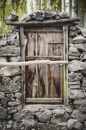 porte ancienne: Vieille porte dans la culture pakistanaise Banque d'images