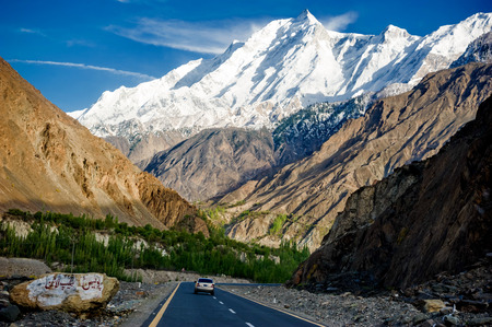 Karakorum Highway in Pakistan Stock Photo