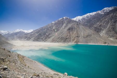 highlands region: Kachura Lake in Skardu Pakistan Stock Photo