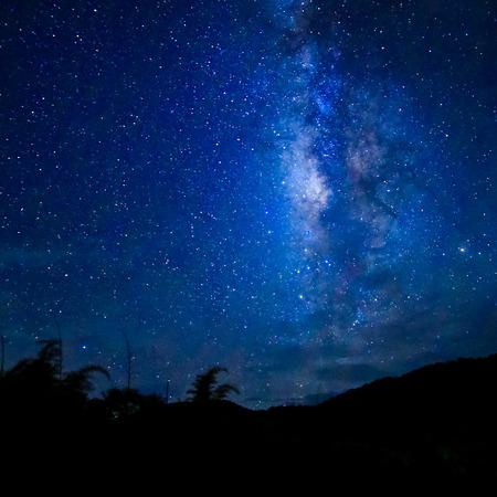 Campo Ampia foto lunga esposizione della Via Lattea