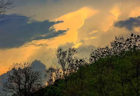 stormy clouds: stormy clouds with sunlight