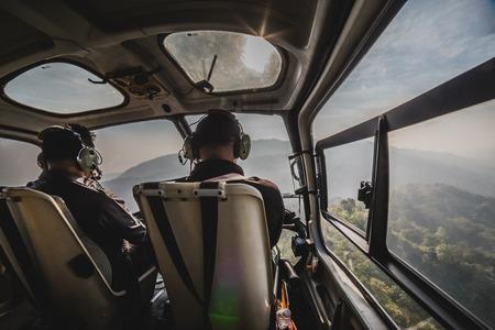 pilot light: Pilot in helicopter