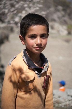 Children in a village in the south of Skardu, Pakistan Editorial