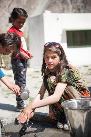 educator: Children in a village in the south of Skardu, Pakistan Editorial