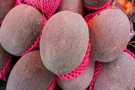 melons: melons in market Stock Photo