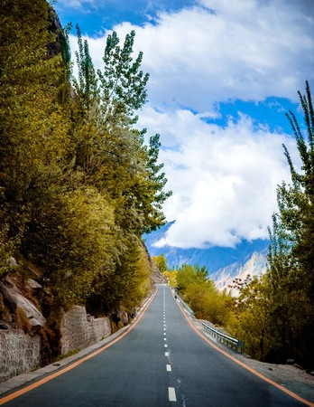Pakistan: Karakorum Highway in Pakistan Stock Photo