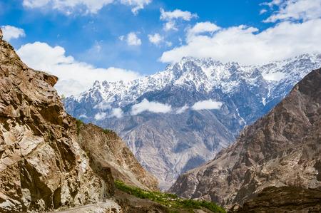 Karakorum Highway in Pakistan Stok Fotoğraf