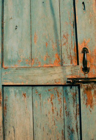 latch: Old door lock and latch