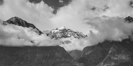 fertile: Beautiful mountain valley in the Karakorum mountains in Pakistan between Gilgit and Chitral