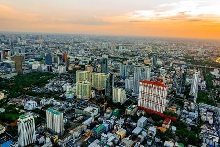 Bangkok Cityscape, Business district with high building at sunshine day, Bangkok, Thailand