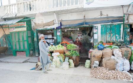 MUZAFFARABAD, PAKISTAN - APRIL 11: An unidentified People in a village in the south of Muzaffarabad, April 11, 2015 in Muzaffarabad, Pakistan with a population of more than 150 million people.