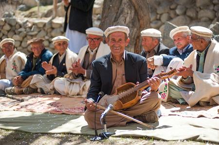 GULMIT VILLAGE, PAKISTAN - APRIL 14:An unidentified people in the Gulmit village, April 14, 2015 in Gulmit Village, Gulmit is the region of Gilgit territory in the Gilgit Baltistan region of Pakistan. Editöryel