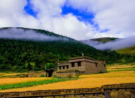 Village of Dong Minority in Guangxi, China Stock Photo