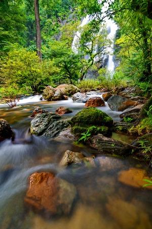 namtok: Khlong Lan Waterfall (Namtok Khlong Lan) in Kamphaeng Phet Province, Thailand.