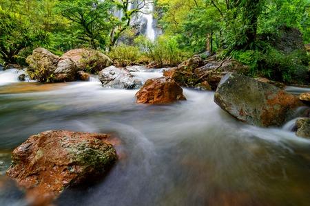 Khlong Lan Waterfall (Namtok Khlong Lan) in Kamphaeng Phet Province, Thailand.