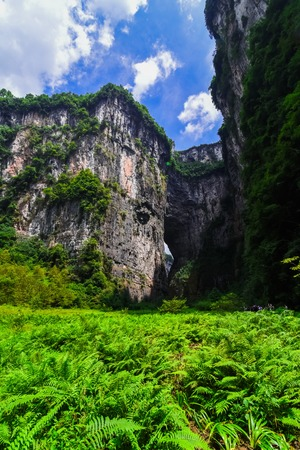 national fruit of china: Wulong nature bridge landscape