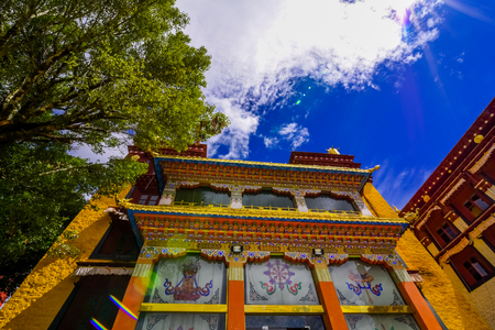 Beautiful view of the Lama temple in China Stock Photo