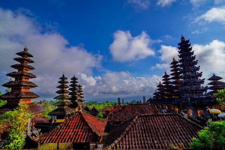 taman: Taman Ayun Temple (Bali, Indonesia) on a beautiful sunny day Stock Photo
