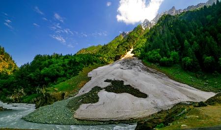 Beautifu View from Srinagar-Ladakh Road go to Sonamarg mountain, Jammu and Kashmir state, India Stock Photo