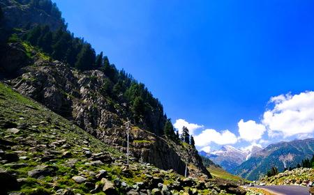 beautifu: Beautifu View from Srinagar-Ladakh Road go to Sonamarg mountain, Jammu and Kashmir state, India Stock Photo
