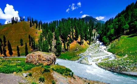 Beautiful mountain view with snow of Sonamarg, Jammu and Kashmir state, India Stok Fotoğraf