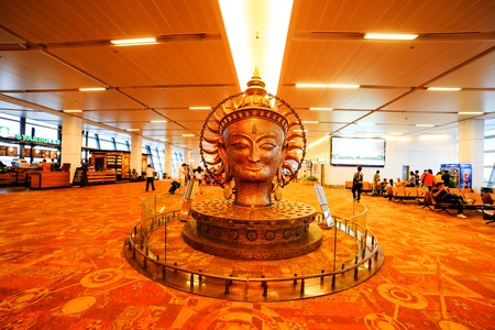 NEW DELHI, INDIA - JULY 05: View of the newly built Indra Gandhi Airport on JULY, 07, 2014, New Delhi, India.