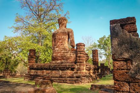 Buddha in the Kamphaeng Phet Historical Park Stock Photo