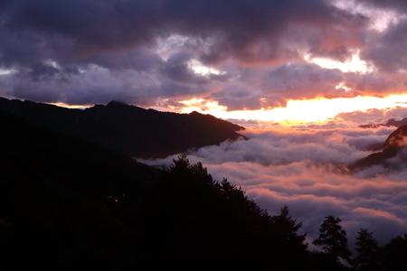 Sunset of Lake waist, Taipei, Taiwan. Stok Fotoğraf