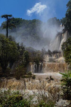 Thi Lo Su Waterfall in Umphang Wildlife Sanctuary, Umphang Tak, Thailand. Banco de Imagens