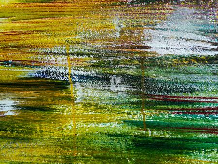 Abstract colorful oil painting on wall texture