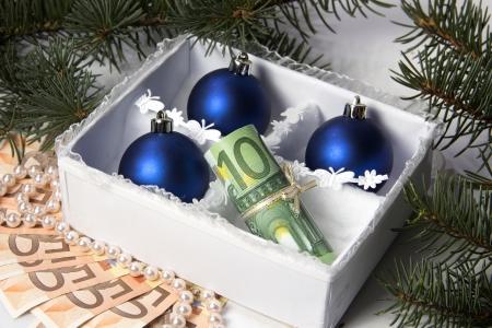 christmas profits: Money for Christmas.
