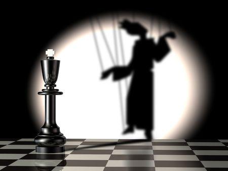 gamesmanship: Negro con el rey t�tere de sombra
