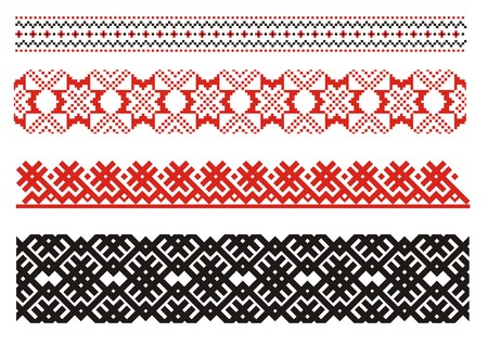 Ornaments. Ukrainian art borders. Set 1 Vector