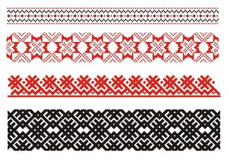 Ornaments. Ukrainian art borders. Set 1 Illustration