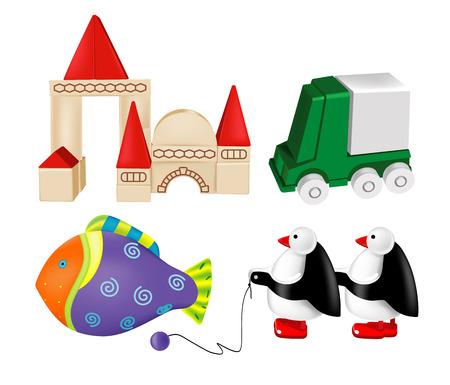 vector toys. set  4 Vector