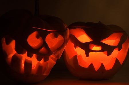 Pumpkins for Halloween Stock Photo - 3379687