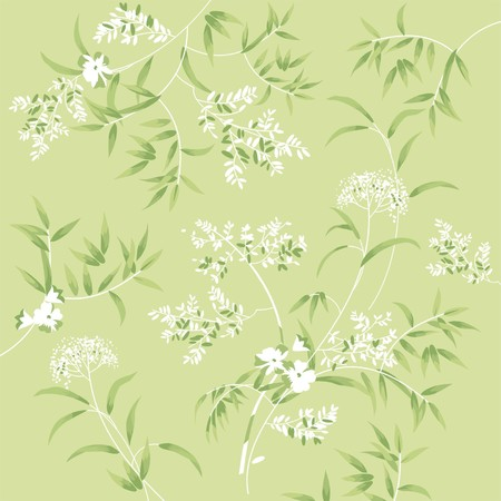 Green soft floral background Vector