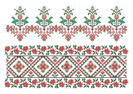 vector ornaments. Ukrainian traditional embroidery Vector