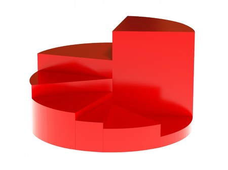 red 3d diagram - the whole and its parts Stock Photo - 4124524