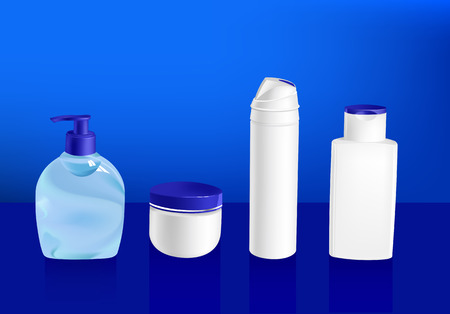 vector illustration of cosmetic container templates - set 2 Vector