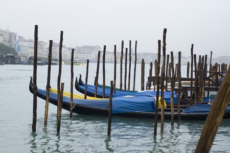 traditional venetian water transport - gondola photo