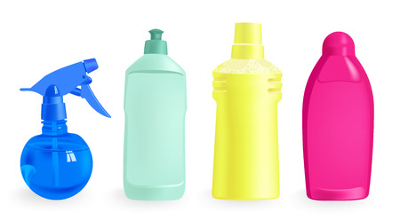 detergents - vector illustration isolated on white background Vector