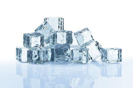 ice cubes: ice cubes isolated on white background
