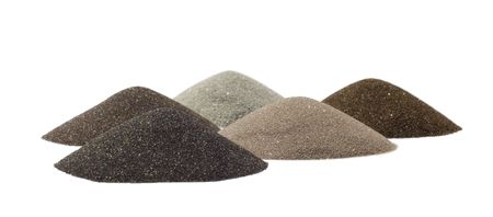 group of sands cones - minerals of mining industry photo