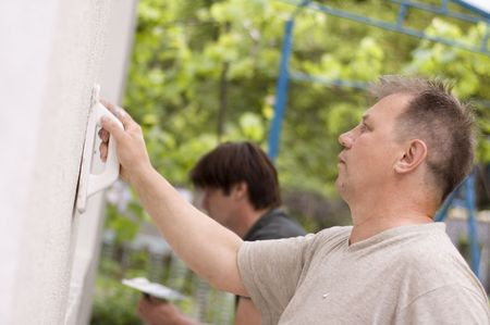 mans make renovation outdoor photo