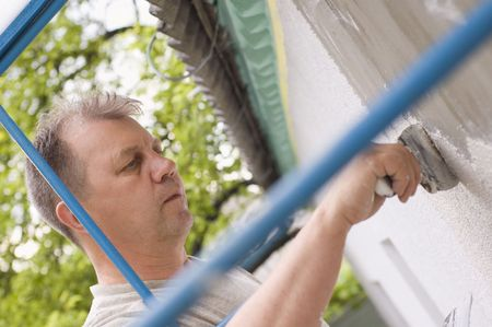 man makes renovation outdoor Stock Photo - 5179864