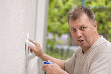 man makes renovation outdoor Stock Photo - 5306975
